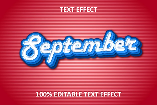 Retro vintage editable text effect blue red