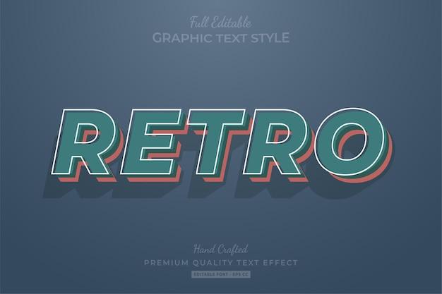 Стиль шрифта с эффектом редактируемого текста в стиле ретро винтаж