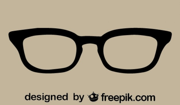 Retro vintage eyeglasses icon