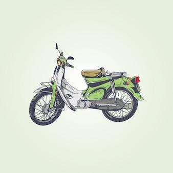 Retro vintage motorbike