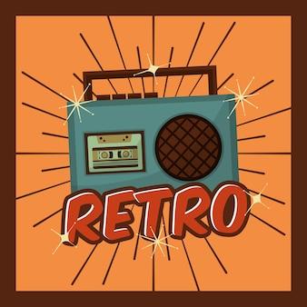 Retro vintage radio cassette music device