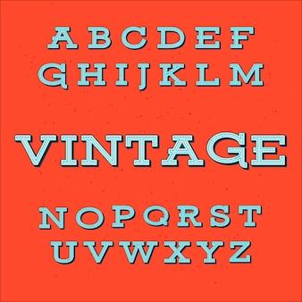 Retro vintage style alphabetフォント