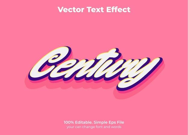 Ретро винтажный текстовый эффект редактируемый стиль текста 60-х годов