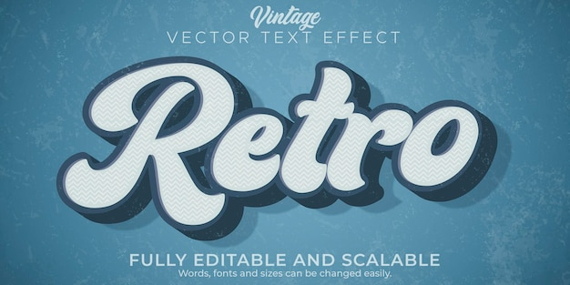 Retro vintage text effect editable 70s and 80s text style.