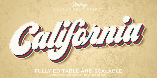 Retro, vintage text effect, editable 70s and 80s text style