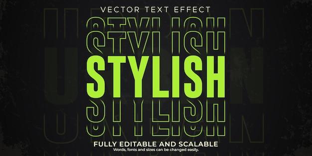 Effetto di testo retrò, vintage, stile di testo modificabile anni '70 e '80