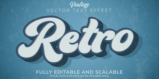 レトロなビンテージテキスト効果編集可能な70年代と80年代のテキストスタイル。