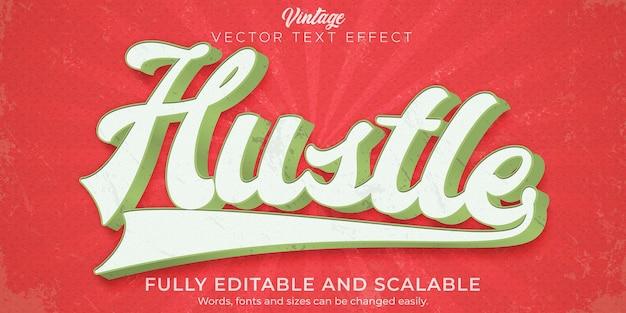 Ретро, винтажный текстовый эффект, редактируемый стиль текста 70-х и 80-х годов