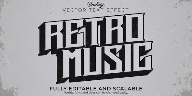 레트로, 빈티지 텍스트 효과, 편집 가능한 70년대 및 80년대 텍스트 스타일