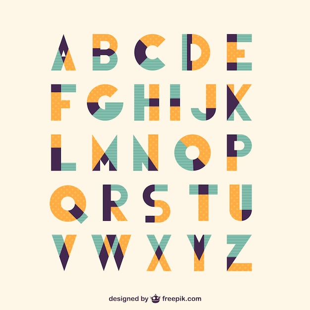 graphic design letters