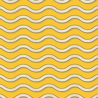 レトロな波のパターン、80年代、90年代のスタイルの抽象的な幾何学的な背景。幾何学的な簡単な図