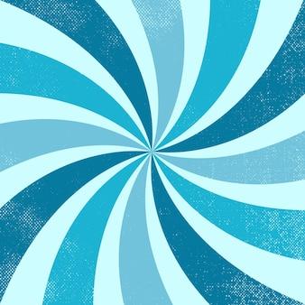 レトロな波状バーストブルー冬ビンテージ背景