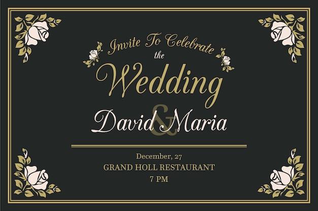 Retro wedding invitation concept