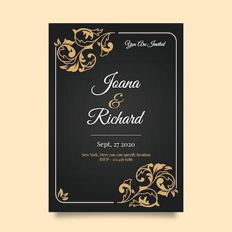 Retro wedding invitation