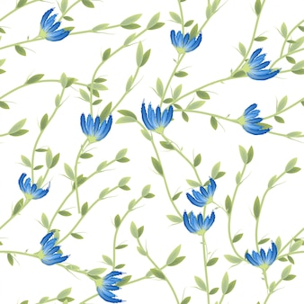 Retro wild flower pattern in the many kind of florals