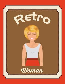 Retro woman design