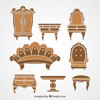Retro wooden furniture