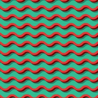 レトロなジグザグパターン、80年代、90年代スタイルの抽象的な幾何学的な背景。幾何学的な簡単な図