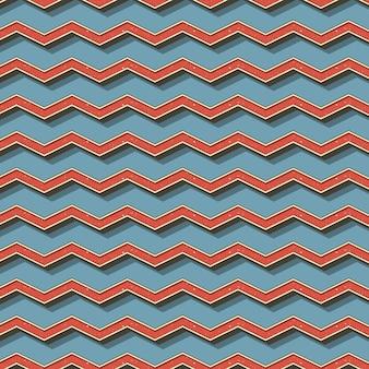 Ретро зигзагообразный узор, абстрактный геометрический фон в стиле 80-х, 90-х годов. простая геометрическая иллюстрация
