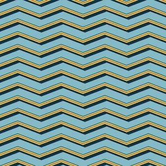 Ретро зигзагообразный узор. абстрактный геометрический фон в стиле 80-х, 90-х годов. простая геометрическая иллюстрация