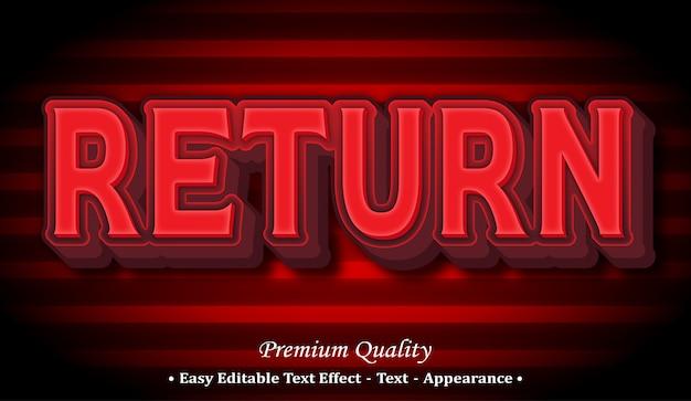 Return  editable text style effect