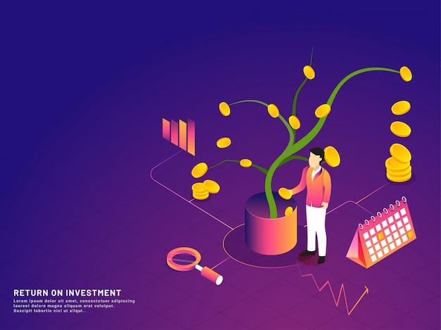 Return of investment concept.