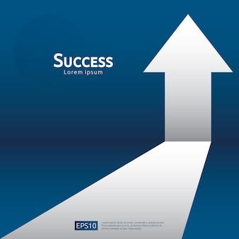 Return on investment roi. chart increase profit