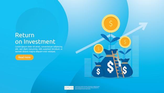 Return on investment roi web template