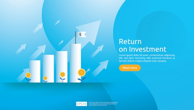 Return on investment roi web template