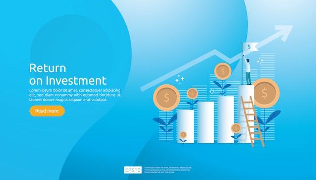 Окупаемость инвестиций roi веб-шаблон