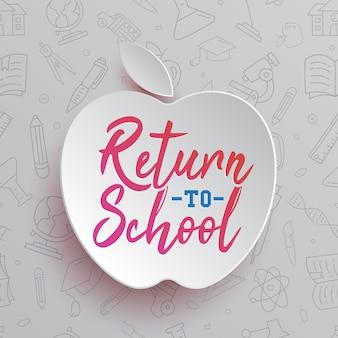 Return to school typography