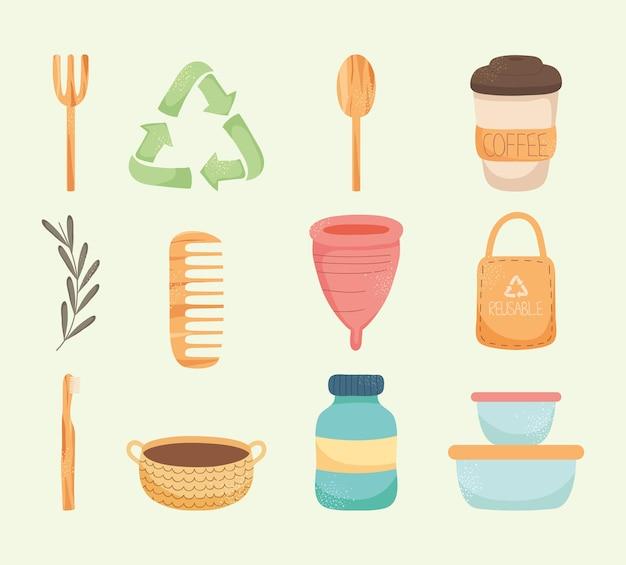 Reusable elements icon set design