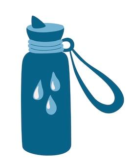 Reusable water bottle. drink more water. plastic free, zero waste concept. water bottle.