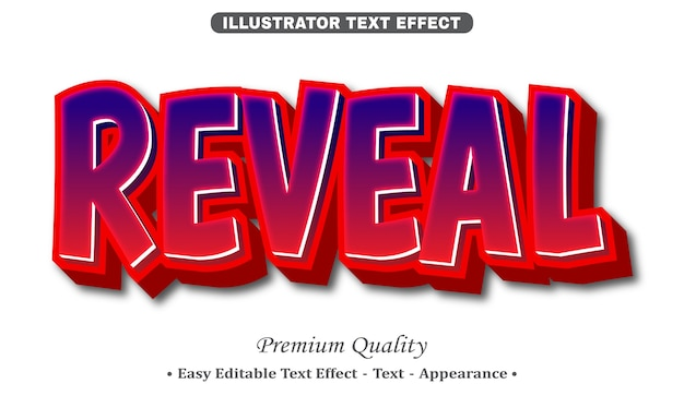 Reveal 3d editable text style effect