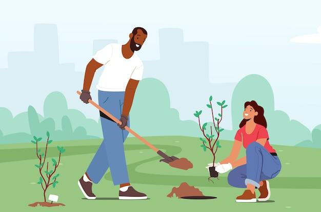 Озеленение, восстановление лесов, лесовосстановление и посадка деревьев