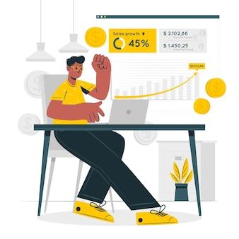 Иллюстрация концепции дохода