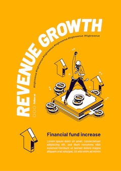 Revenue growth a financial fund increase poster