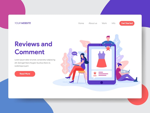 Review and comment illustration for homepage