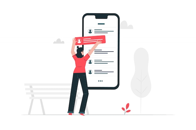 Review concept illustration
