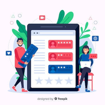 Reviews concept illustration in flat design