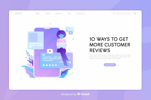 Reviews concept landing page