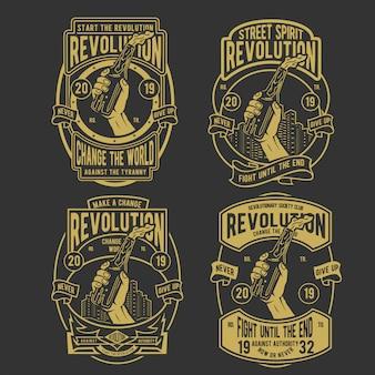 革命バッジのデザイン