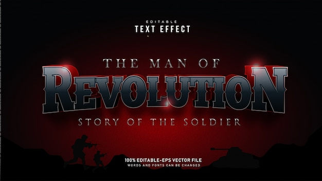 Revolution text effect