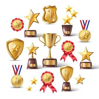 Reward trophy background.