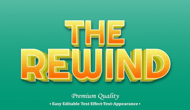 The rewind 3d font style effect
