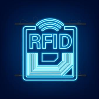 Rfid 무선 주파수 식별 네온 효과 기술 개념