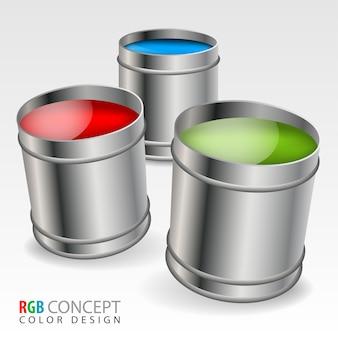 Rgb buckets color