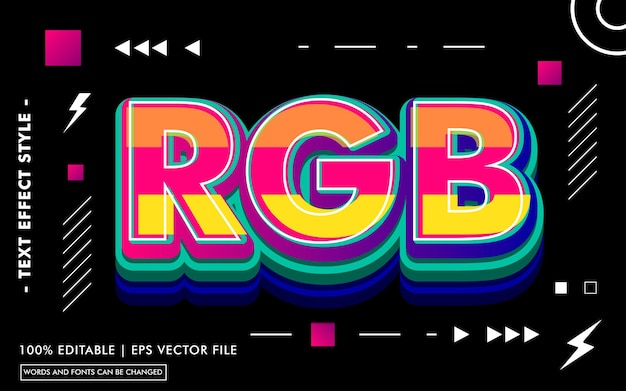 Rgb text effect template