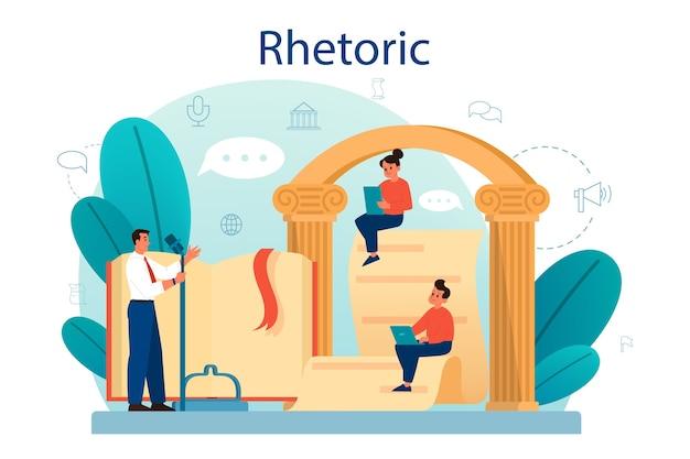 Rhetoric or elocution school class