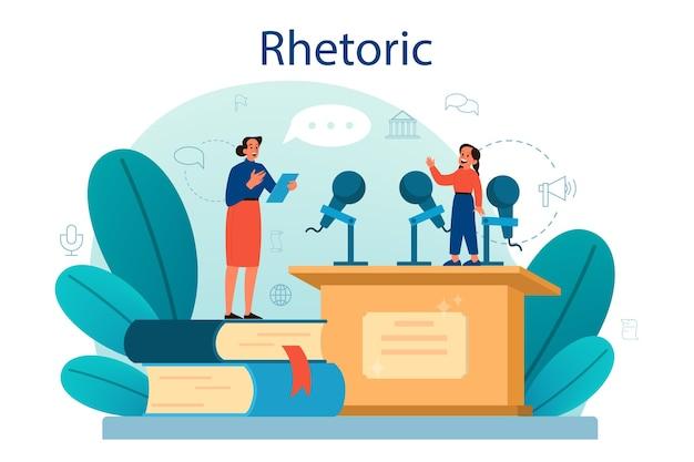Rhetoric or elocution school class.